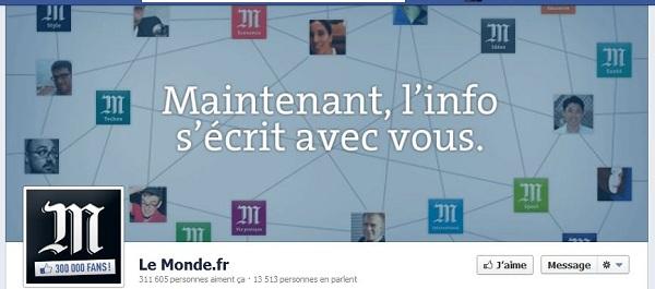 timeline Facebook Le Monde