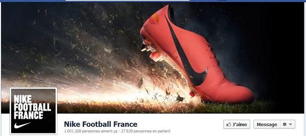 timeline Facebook Nike