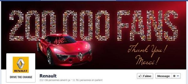 timeline Facebook Renault