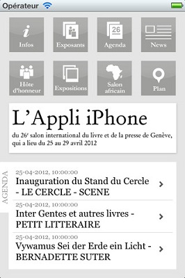 capture appli iphone Salon international du livre et de la presse de Genève