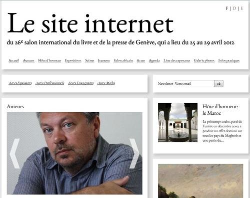 capture site internet Salon du livre et de la presse de Genève