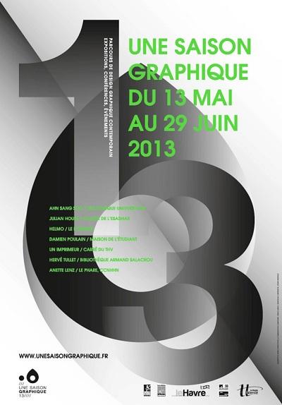 L'affiche de la Saison Graphique 2013