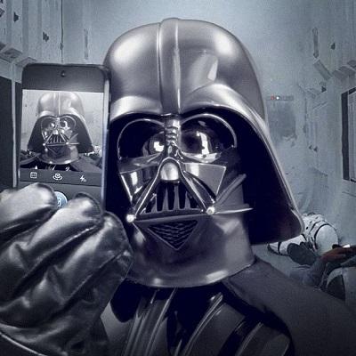 Dark Vador selfie Instagram