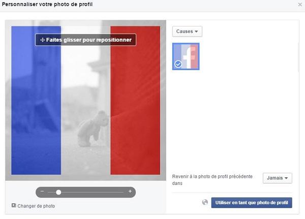 fonctionnalité personnalisation photo de profil facebook