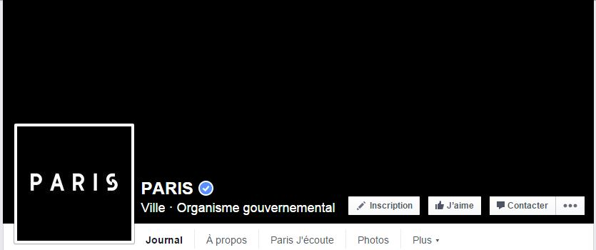 page facebook ville de Paris