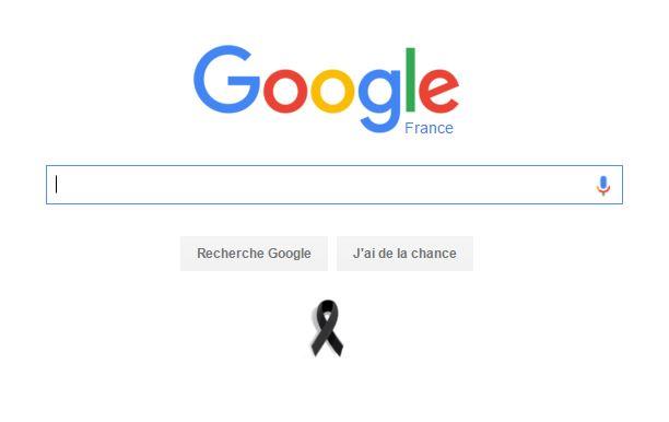 ruban noir Google