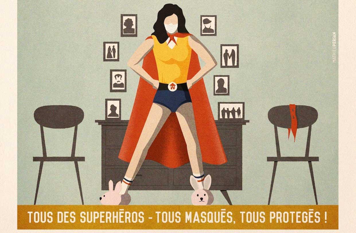 Déconfinement : la nouvelle affiche de l'illustrateur Mathieu Persan