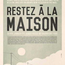 Mathieu Persan - Affiche Restez à la maison