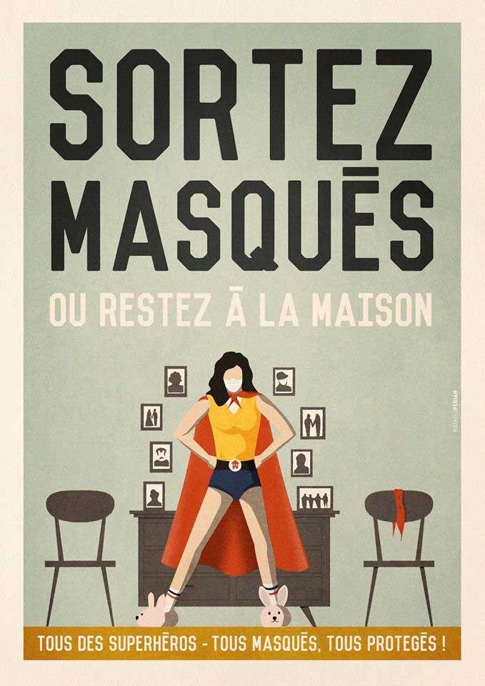 Mathieu Persan - Affiche Sortez masqué